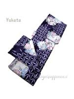 Yukata viola decorazione fiori [Ohayo]