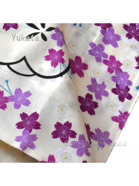 Yukata fiori sakura viola [Tanabata]