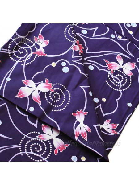 Yukata viola decorazione kingyo [Miwa]