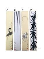 Sumie pittura ad inchiostro di china su tanzaku natura