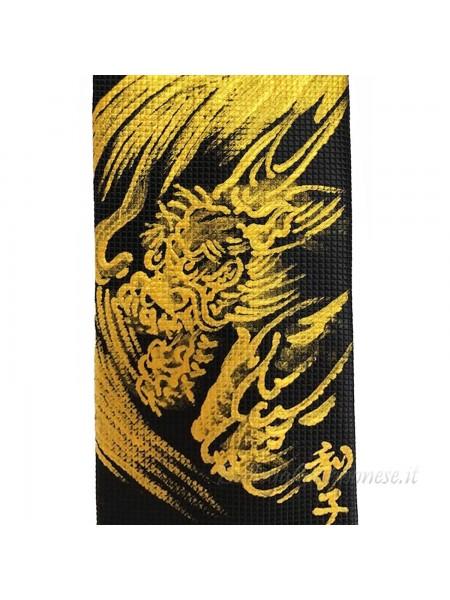 Cravatta con disegno di drago dipinto a mano
