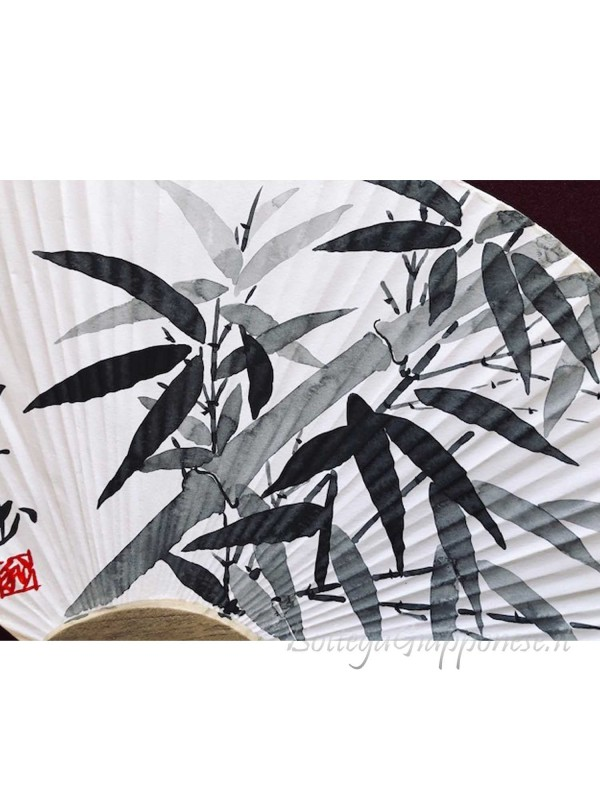 Uchiwa ventaglio Bambù dipinto a mano