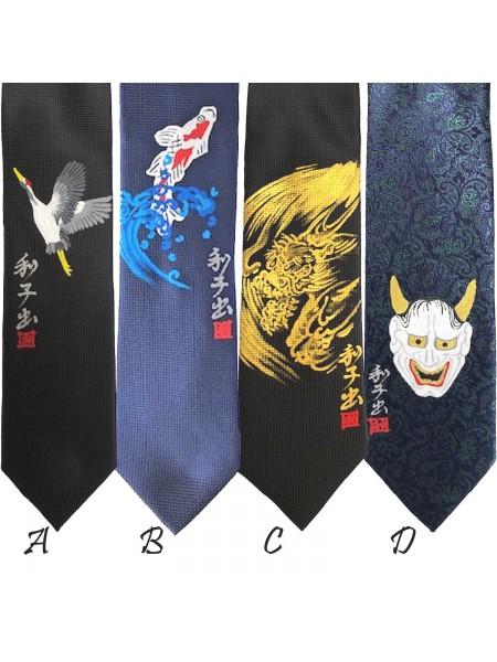 Cravatta con disegno dipinto a mano