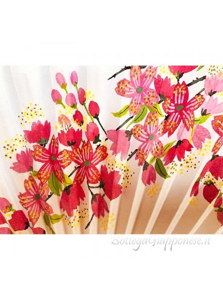 Sensu ventaglio Sakura dipinto a mano